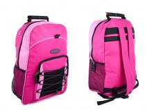 BP-72 PINK EXTRA LARGE MULTI ZIP BACKPACK