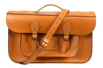 "15"" AUTUMN TAN BRIEFCASE MAGNETIC LEATHER"