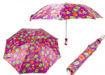 CASAVIA GREEN/PURPLE FLOWER PRINT UMBRELLA