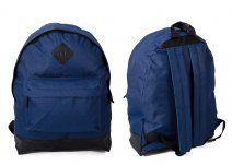 JBBP241 NAVY PLAIN BACKPACK W/2 ZIPS