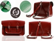 15 BACKPACK OXBLOOD PATENT OXBRIDGE SATCHEL
