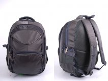 2598 GREY Nylon BACKPACK WITH 4 ZIPS & SIDE P