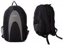 LL-BP-1 Black Rucksack w/ 3 Zips and Netting