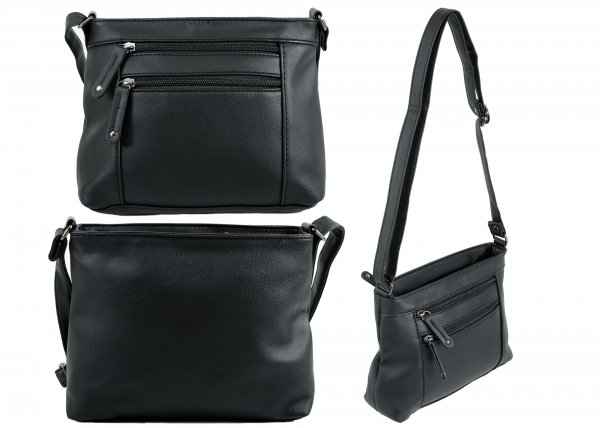JBHB2562 NICOLE BROWN PU HANDBAG BLACK