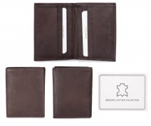 1009 RFID BROWN LONDON LEATHER WALLET W/CC SLOT
