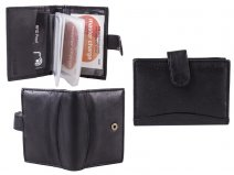 1167 LEATHER WALLET BLACK RFID PROOF