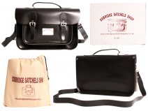 "IN-NEW 13"" BLACK SATCHEL WITH HANDLE"