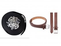 "2704 BROWN BELT 1"" WIDE LEATHER BELT DOZEN"