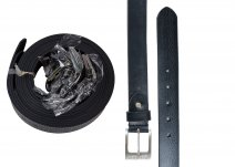 "2910 Black 1.25"" DISTRESSED LEATHER BELT-NICKEL BCKL Dozen"