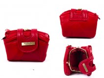 4613 DOUBLE ZIP PURSE WITH CENTRE FRAME TABOVER RED