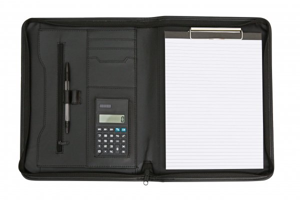 3108 Black A4 Portfolio Presentation Organiser Folder