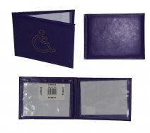 1498 PURPLE DISABLED BADGE WALLET