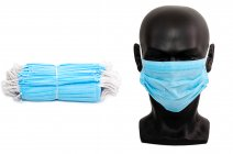 3 Layer Disposable Face Masks PACK of 50 Blue