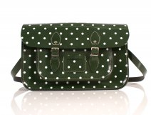 RL15 PATENT GREEN POLKA DOT ENGLISH NEW