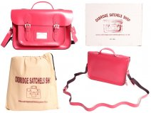 "IN-NEW 15"" FUSCHIA SATCHEL WITH HANDLE"