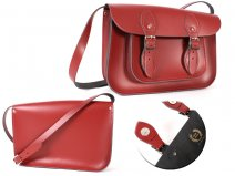 11 RED MAGNETIC ENGLISH SATCHEL