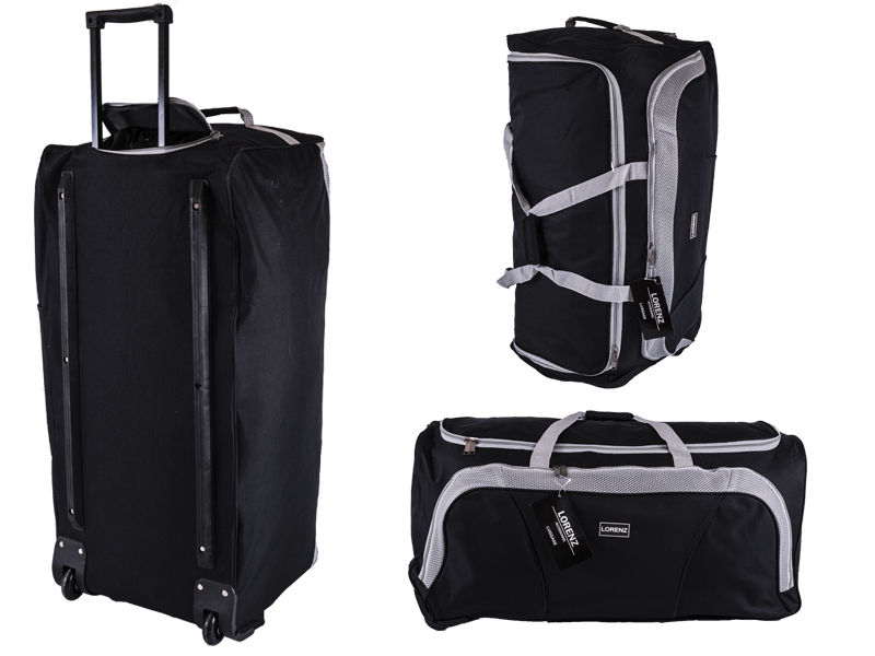 "2621 Black/Grey 28"" Trolley Bag with Front Pocket & Retractable"