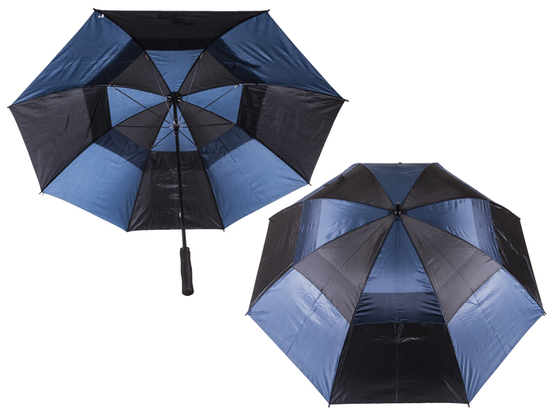 2817 Contrast Golf Umbrella with Wind Flaps BLACK/BLUE