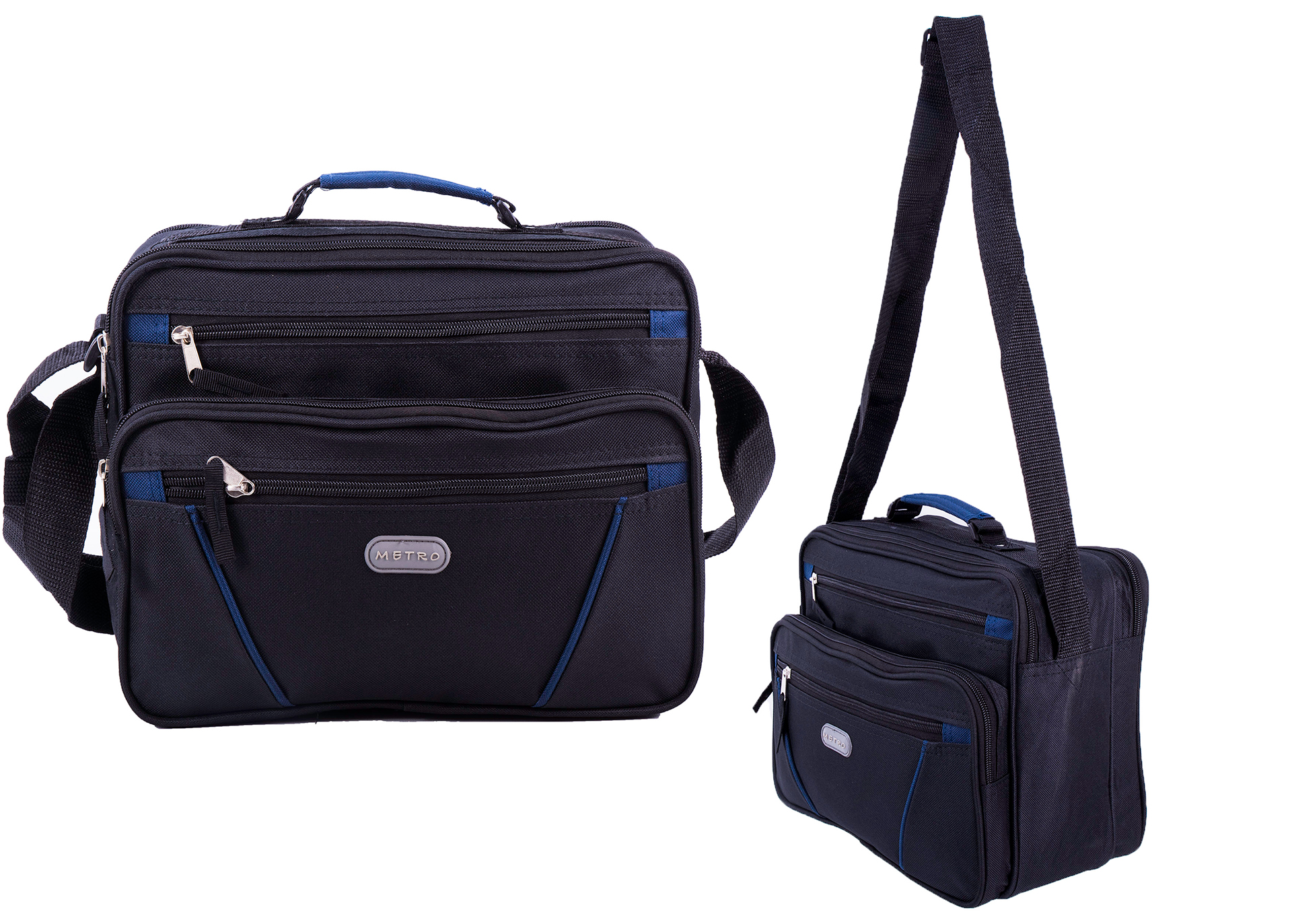 LL-7911 BLACK/BLUE FLIGHT BAG