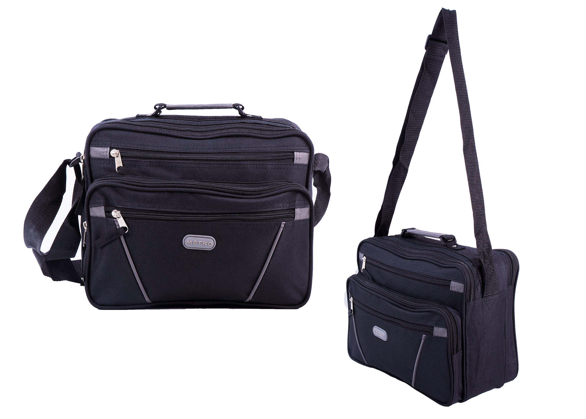 LL-7911 BLACK/GREY FLIGHT BAG